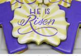 He is Risen Easter Cookie
