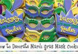 Mardi Gras Mask Cookie