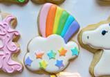 Rainbow with Star Cloud Cookie