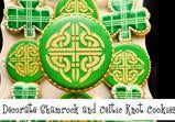 Shamrock and Celtic Knot Stencil Cookie