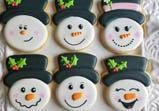 Snowman Face Cookie