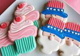 Cupcake and Uncle Sam Cookie