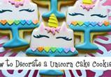 Unicorn Cake Cookie