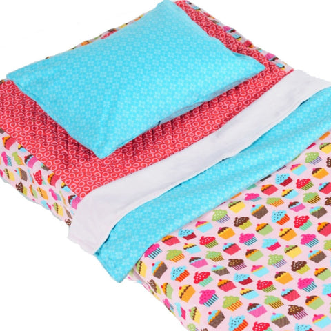 Pink Cupcake - Cot Bedding Kit