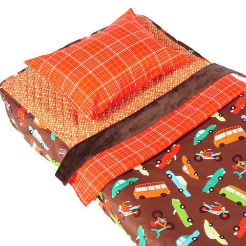 Cruisin Brown - Cot Bedding Kit