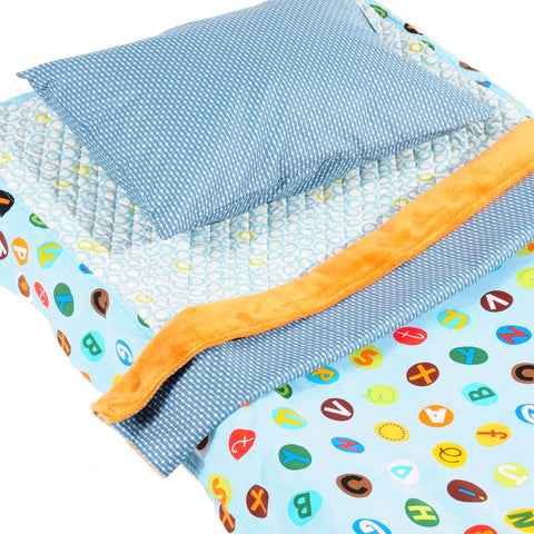Blue Alphabet - Cot Bedding