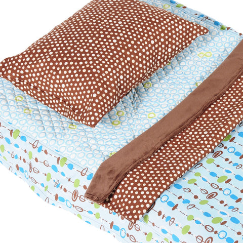 Pebble Blue - Cot Bedding Kit