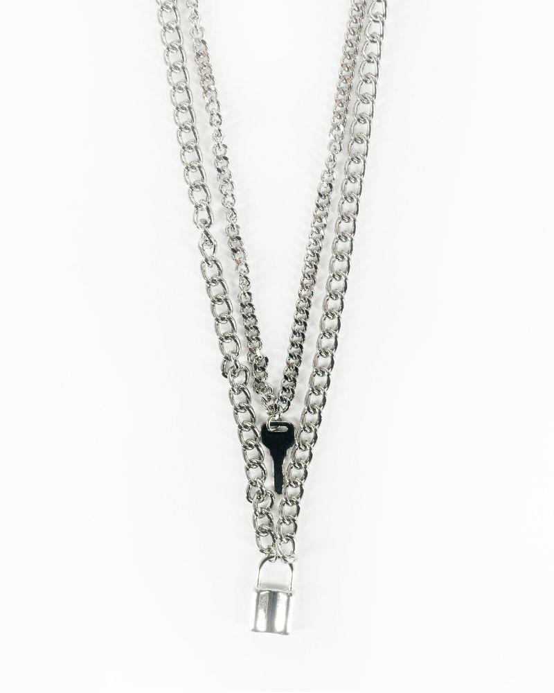 Lock N Key Necklace Silver