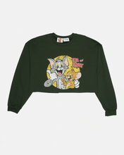 Load image into Gallery viewer, Tom and Jerry Cropped Boxy Sweat