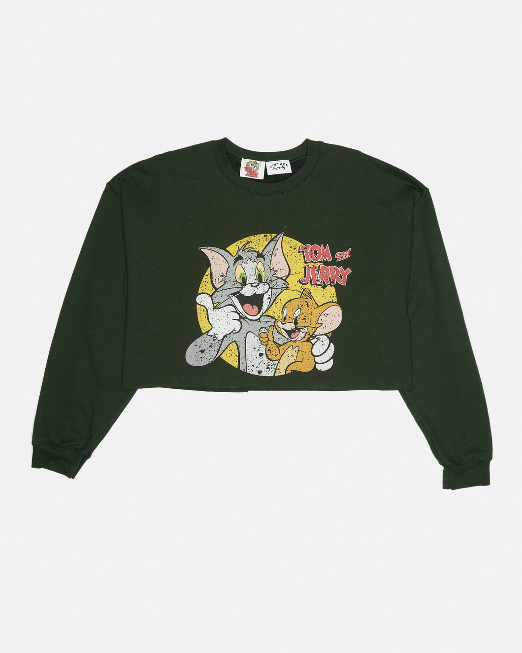 Tom and Jerry Cropped Boxy Sweat