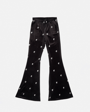 Load image into Gallery viewer, Ying Yang Print Velvet Flares