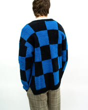 Load image into Gallery viewer, Knitted Blue Checker Board Cardigans