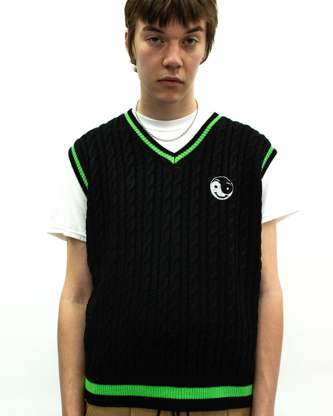 Knitted Vest With Ying Yang