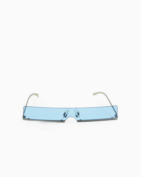 Rectangle Sunglasses with Blue Lense