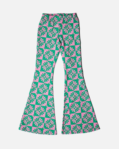 RETRO PRINT FLARE TROUSERS