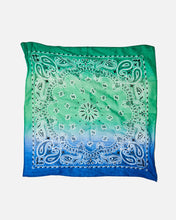 Load image into Gallery viewer, GREEN & BLUE OMBRE BANDANA