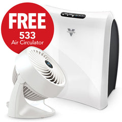 AC350 Air Purifier & FREE 533 Air Circulator (White) Bundle