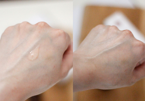 Mskin White C Serum on the hands