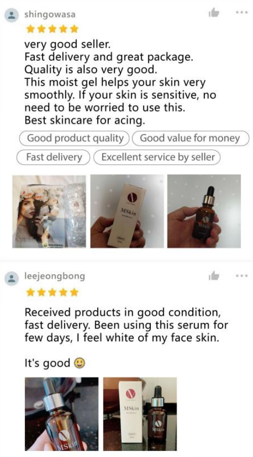 Mskin White C testimonials & reviews