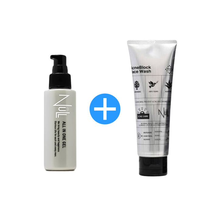 NULL Acne Block Face Wash (120g) & NULL All-in-one Gel (100g) Bundle Promotion - GHD