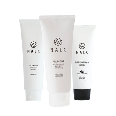 NALC Cleansing Balm  (100g) + NALC White Clay Enzyme Face Wash Foam  (120g) + NALC Moisturizer All-In-One Gel (100g) - GHD