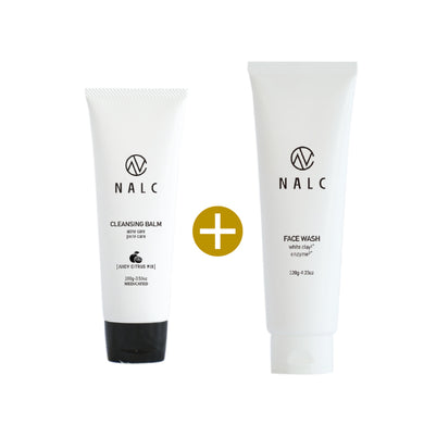 NALC Cleansing Balm (100g) + NALC White Clay Enzyme Face Wash Foam (120g) - GHD