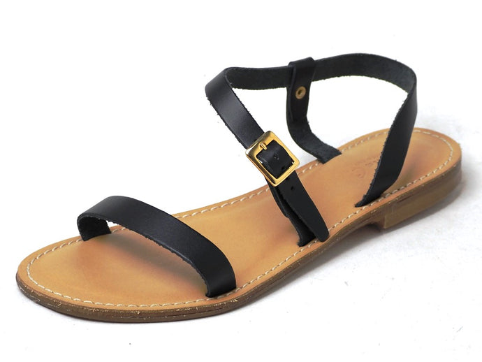 Danyu - Sonia C Leather Strap Sandals - DYU
