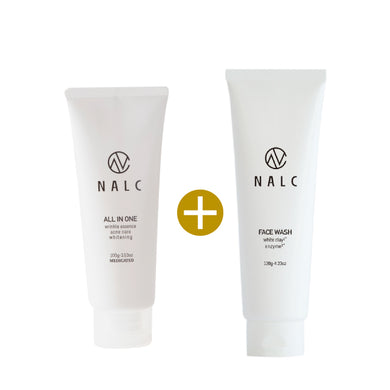 NALC Moisturizer All-In-One Gel (100g) + NALC White Clay Enzyme Face Wash Foam (120g) - GHD