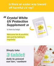 Load image into Gallery viewer, CRYSTAL WHITE UV PROTECTION SUPPLEMENT (90 TABLETS) - BUY 3 FREE 1 - SZH