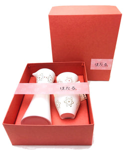 Yamaco Hotaru Sake Set (1 Sake Bottle and 2 cups) - ANP - Japan Premium Malaysia