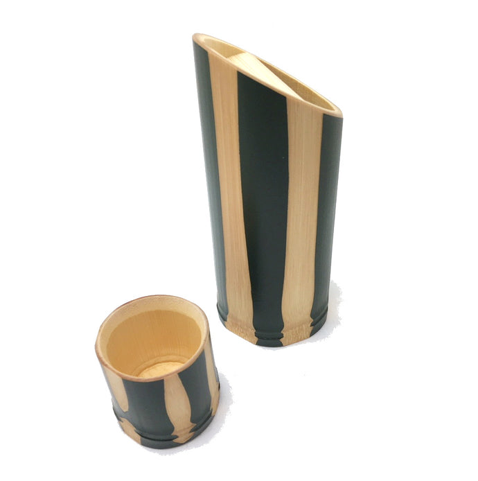 Yamaco Nuri Hatsuri Modern Japanese Set (1 Sake bottle and 1 cup for cold Sake) - ANP - Japan Premium Malaysia