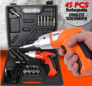 45IN1 CORDLESS ELECTRIC RECHARGEABLE HANDY SCREWDRIVER