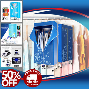 ELECTRIC PORTABLE DRYER WITH CLOSET WARDROBE RACK