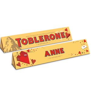 Toblerone 360g with personalised heart sleeve