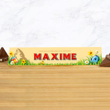 Load image into Gallery viewer, 360g milk chocolate Toblerone with personalised Easter sleeve