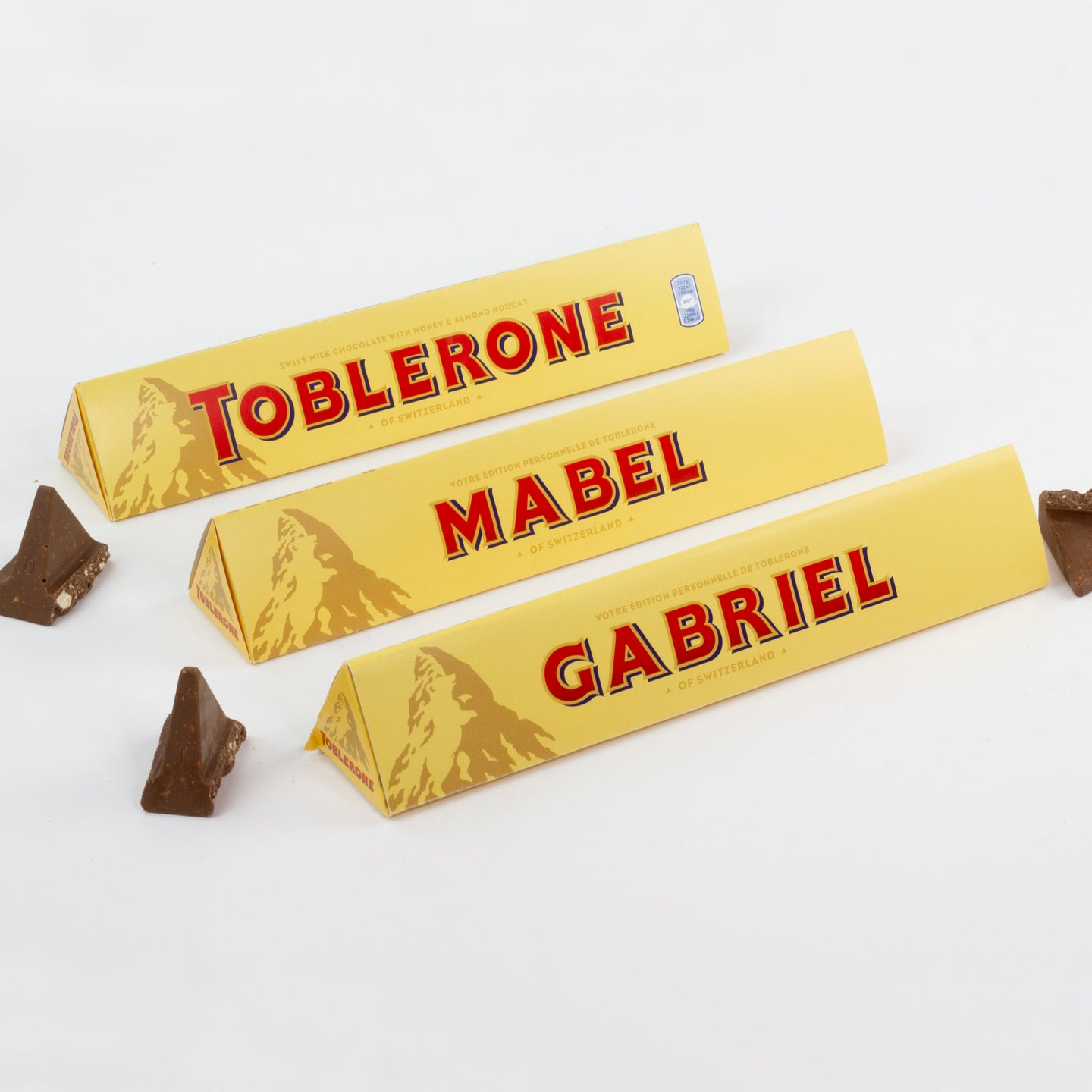 Toblerone 360g with classic personalisation