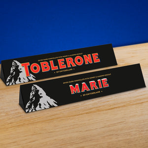 360g Toblerone Dark chocolate with personalised sleeve