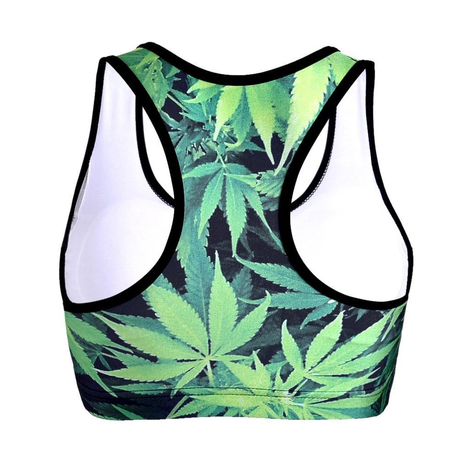 Marijuana Bra Tank Top Sports Bra - Dope Clothes