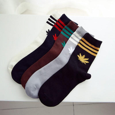 1 Pair Dope Apparel Infamous Weed Stripe Socks - Dope Clothes