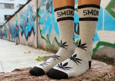 Retail Cotton Fashion Leaf Weed Stay Smoking Summer Thin Long Socks - Dope Clothes