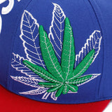 Kush Weed Embroidered Street Pot Leaf Flatbill Snapback Cap - Dope Clothes
