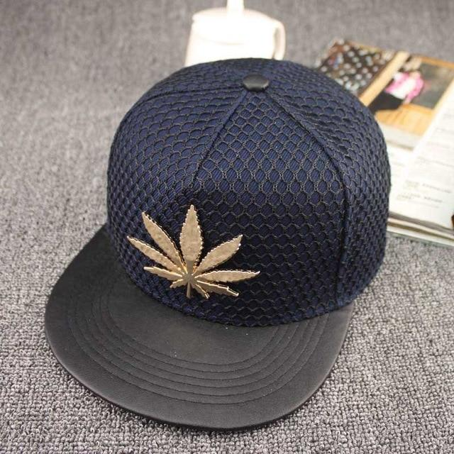 🌱👕 👖Hats; $14.89 vs $14.89 Pot Leaf Style Metal Emblem Casual Mesh Snap Back Weed Hat