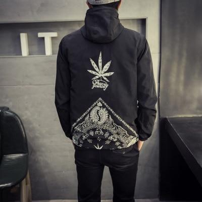 Style Jacket Men Fashion 2017 Spring New Hooded Windbreaker Jacket - Dope Clothes