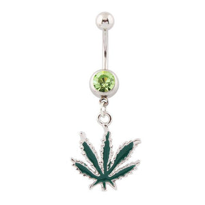 Dangling Jamaican Rasta Pot Leaf Weed and Cannabis Accessories Body Jewelry
