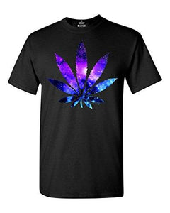 420 Plant Leaf Galaxy T-shirt Weed Smoker Stoner Shirt - Dope Clothes