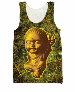 Stoner 3d Print 420 Buddha Tank Top Summer Style Casual Shirt - Dope Clothes