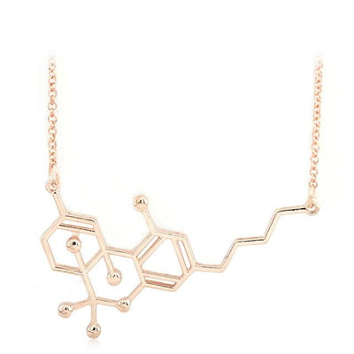 🌱👕 👖jewelry; $17.49 vs $17.49 Miss Chemical THC Molecular Structure Formula Pendant Necklace