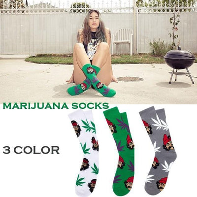Cheech and Chong Happy 420 Weed Long Socks - Dope Clothes