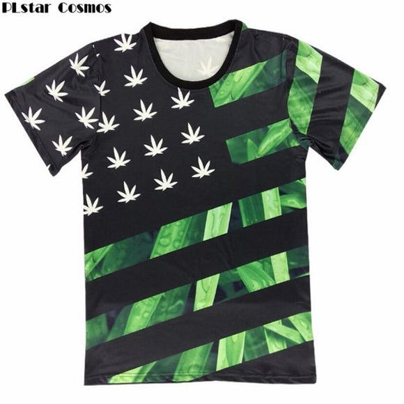 Unisex 3d 420 United States Pot Leaf Shirt - Dope Clothes