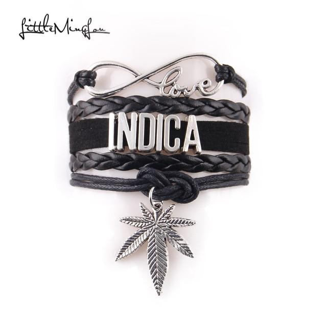 🌱👕 👖jewelry; $5.89 vs $5.89 5 Styles Infinity Love Indica Bracelet Pot Leaf Charm